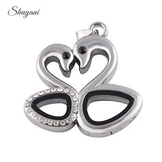 Find More Pendants Information about 10pcs/lot Free Shipping 2016 New Swan Shape Floating Locket Necklace & Pendants Rhinestone Memory Magnetic Glass Living Lockets,High Quality pendant shop,China pendant porcelain Suppliers, Cheap pendant lamp from shuyani Official Store on Aliexpress.com