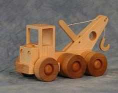 Tractor Trailer Lowboy Trailer camión de madera de por JoliLimited