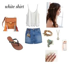 """""""white"""" by marianti on Polyvore featuring Chicwish, Ally Fashion, Tory Burch, Chloé, REGALROSE, Lizzy James, Balenciaga and WardrobeStaples"""