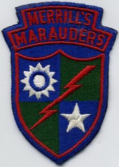 US Army - Merrill's Mauraders Patch - The original Rangers