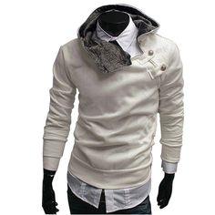 Miuye yuren Casual Zipper Pocket Plain Elegant Female Short Sweater Hooded Pullovers Tops