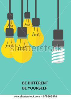 Light bulb - Idea and verity concept - Vector illustration