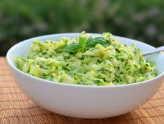 Recipes-Fitness |   Creamed Zucchini with Garlic & Basil