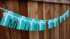 Breakfast at Tiffany's banner Bridal Shower by SoleilsPapeterie