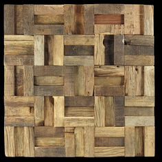 Rustico reclaimed timber mosaic wall tiles by Renaza Ceramic Mosaic Tile, Wood Mosaic, Mosaic Wall Tiles, Mosaic Backsplash, Mosaic Glass, Mosaics, Timber Tiles, Inexpensive Flooring, Hardwood Tile