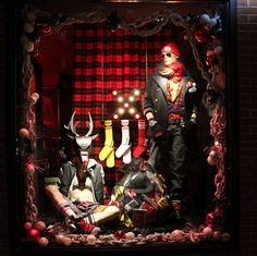 Nasty Pig sells fetish items for men. Here is one of their Xmas window displays.   We have mannequins for sale at mannequin madness.com
