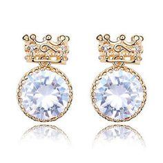 Crown Zirconia Stud Earrings. Rp 95,000 or $9.5. Dimension: 1.8 x 1.5 cm. shipping worldwide. shop online www.reginagarde.com