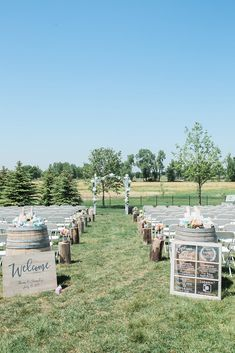 30 Beautiful Wedding Aisle Decoration Ideas ❤ wedding aisle decoration ideas outdoor summer rustic with wine barrels and flowers jamie wieseler photography #weddingforward #wedding #bride #weddingdecor #weddingaisledecorationideas
