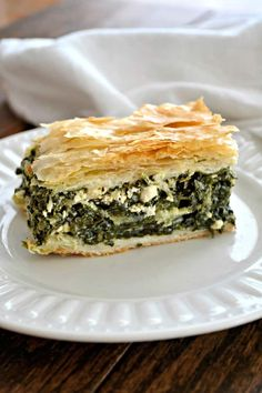 onion, herbed Feta cheese in between layers of Phyllo dough create an e. - -Spinach, onion, herbed Feta cheese in between layers of Phyllo dough create an e. Chef Recipes, Greek Recipes, Appetizer Recipes, Vegan Recipes, Cooking Recipes, Easy Recipes, Holiday Appetizers, Holiday Foods, Snack Recipes