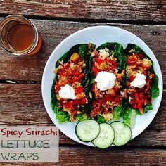 Spicy Sriracha Lettuce Wraps