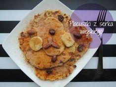 Fitblog. Odchudzanie, przepisy, motywacja.: Niskokaloryczne placuszki z serka wiejskiego - 35k... Crepes, French Toast, Pancakes, Breakfast, Desserts, Food, Diet, Morning Coffee, Tailgate Desserts