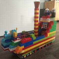 Lego Duplo, Craft Activities For Kids, Toddler Activities, Crafts For Kids, Lego For Kids, Art For Kids, Summer Daycare, Lego Boat, Lego Challenge