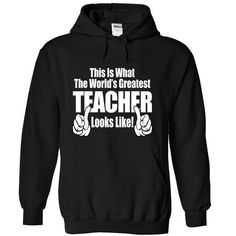 The Worlds Greatest Teacher - #gifts for girl friends #small gift. LOWEST PRICE => https://www.sunfrog.com/Funny/The-Greatest-Teacher-Black-12380246-Hoodie.html?68278