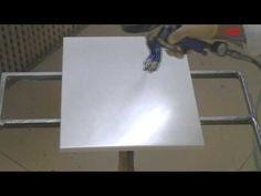 """Come realizzare l'effetto acciaio """"foglia"""" su legno con ciclo di verniciatura…"""