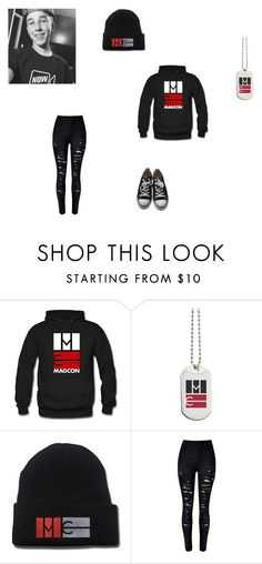 """""""Hunter Rowland is bae!"""" by m-d-cardin ❤ liked on Polyvore featuring WithChic, Converse and Rowland"""