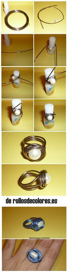 enrHedando: Como hacer 2 Anillos de Alambre - love this, but the instructions (other than photos) are in           ?Spanish?