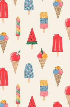 Ice Lollies Print -