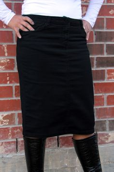 Khaki Colored Denim Skirt - Jade Mackenzie Modest Apparel | Wish ...