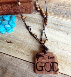 Faith Inspired Wooden Pendant Necklace - pinned by pin4etsy.com