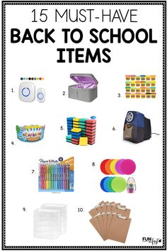 These must-have items for teachers are perfect for this coming school year. School Supplies For Teachers, Back To School Teacher, First Year Teachers, Teacher Supplies, Classroom Supplies, Back To School Supplies, Beginning Of School, Going Back To School, Classroom Organization