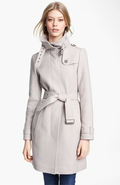 Another Wardrobe essential...classic, warm, chic! Burberry Brit Belted Wool Blend Coat | Nordstrom