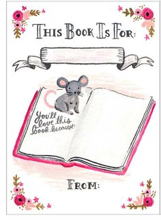 Free Bookplate from Anna Bond of Rifle Paper Company | Printables ...