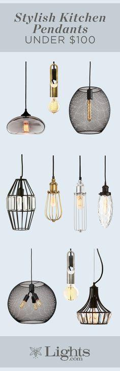 Shop Affordable and Stylish Kitchen Pendants - Modern Rustic Lighting, Kitchen Lighting, Home Lighting, Modern Lighting, Pendant Lighting, Lighting Ideas, Luxury Marketing, Kitchen Pendants, Stylish Kitchen