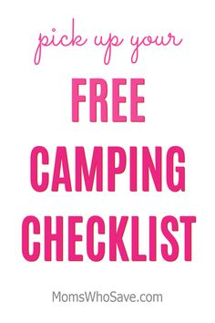 Camping for Beginners plus Print a Camping Checklist #camping #free #printables #outdoors #campinglife #campingtrip #travel Kids Checklist, Camping Checklist, Camping With Kids, Camping Life, Camping For Beginners, How To Introduce Yourself, Family Travel, Free Printables, Coupons