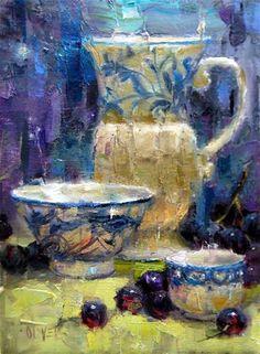 """Blue and White Study"" - Original Fine Art for Sale - © Julie Ford Oliver"