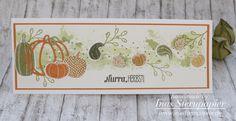 Stampin Up Herbst pick a pumpkin Kürbis Karte Aquarelltechnik Incolor 2017