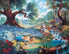 thomas kinkade disney alice in wonderland - Google Search