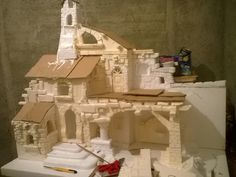 Christmas Crafts, Xmas, Medieval Houses, Medieval Fantasy, Model Homes, Nativity, Scenery, Projects To Try, Pallet