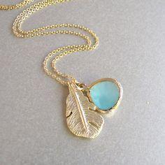 gold leaf & sea foam necklace!!!