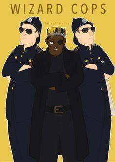 Wizard Cops  by *ValiantParadox