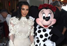 Kim Kardashian Photos Photos - Kim Kardashian West and Minnie Mouse attend Fashion LA Awards.  Minnie wears custom alice + olivia by Stacey Bendet dress at the Sunset Tower Hotel on April 2, 2017 in West Hollywood, California. - Minnie Mouse at Fashion LA Awards