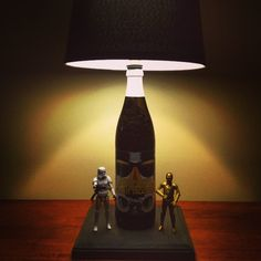 Imperial Stout Trooper beer bottle lamp #newenglandbrewing ‪#‎beerlamp‬ ‪#‎stouttrooper‬ ‪#‎ilovebeer‬ ‪#‎starwarslamp‬ ‪#beerlovers #‎bottlelamp‬ ‪#‎bottlecraftbytom‬ ‪#‎lightupyournight‬ #starwars #barlighting #bottlecraftbytom.com