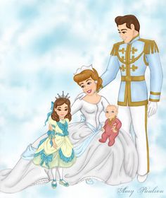 Cinderella, Prince Charming and their daughter