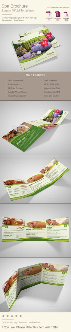 Spa \ Beauty Saloon Tri-Fold Brochure Volume 11 Beauty - spa brochure