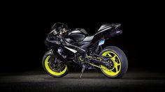 #Black #Kawasaki #ZX6R #Ninja