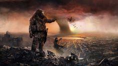 Post Apocalyptic Art | Post-apocalyptic city HD Wallpaper 1920x1080