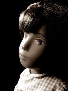1966 Frido / Trendon Sasha Doll No Philtrum 'Gingham' (eyes painted by Manchester art student Kristina)
