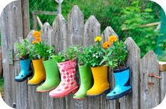 Un jardin original: reciclar botas de agua | Decoración Hogar, Ideas y Cosas Bonitas para Decorar el Hogar