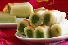 Kaju pista rolls are Indian sweets that are very similar to marzipan. It's almost like edible Play-Doh. Kaju and pista respectfully means cashew nuts and pistachio in Hindi.