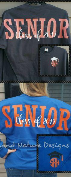 $21. Long Sleeve High School Senior 2018 Jersey Shirt / College Senior 2018 Shirt. Senior Cheerleader gift. Cheerleading practice shirt. #cheerleading #seniors #ad