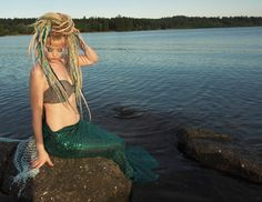 soaking up the sun and posing nondescriptly with our hair ;) Get everything you need for mythical mermaid dreadlocks here: Hair Color Purple, Blue Hair, 100 Human Hair Extensions, Woodland Fairy, Mermaid Hair, Braided Hairstyles, Pixie, Dreadlocks, Stylists