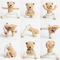 Meddy Teddy is a bendable meditating, yoga and mindfulness teddy bear. Teach kids/children by bending Meddy Teddy into different yoga and meditation poses. Baby Massage, Learn Yoga, How To Do Yoga, Chico Yoga, Yoga Zen, Yoga Position, Easy Meditation, Tatty Teddy, Cute Teddy Bears