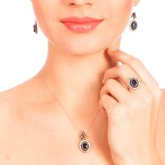 The Zerbap Zişan Jewelry Set with Zircon Sapphire by Rosestyle, $49.40