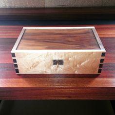 Sexy Jewellery Box #jewellerybox #walnut #rockmaple #bespokefurniture #bespokefurnituremaker #dowoodworking #finefurniture #furnituremaker #furnituremaking #woodwork #woodworking #cabinetmaking #scotthorsburgh #yallingupsteading
