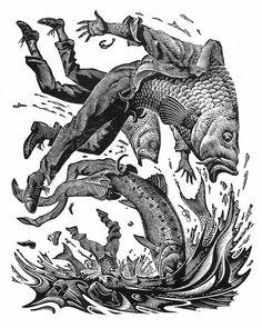 Metamorphosis, wood engraving by Andrew Davidson Surreal Art, Painting Illustration, Drawings, Woodcut Illustration, Illustration Design, Metamorphosis Art, Art, Art Wallpaper, Engraving Illustration