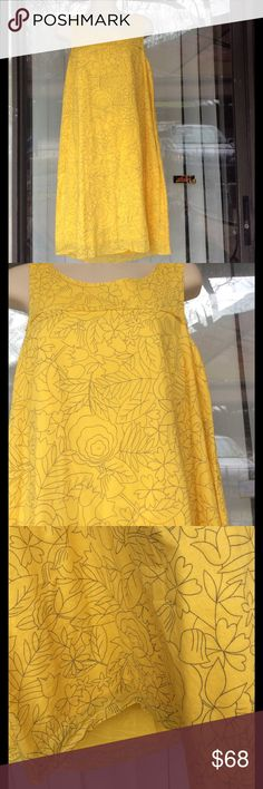 HD in Paris beautiful bright yellow dress Worn once,with lining Anthropologie Dresses